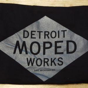 Gray on Black Detroit Moped Works Diamond Print T-Shirts!