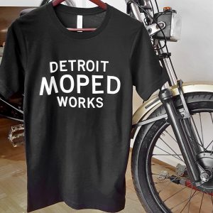 Black and White Detroit Moped Works T-Shirt