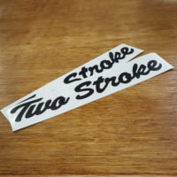 """Custom """"Two Stroke"""" decals based on the Indian Four Stroke design"""