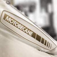 Motobecane tank decal reproduction in custom gold without backing