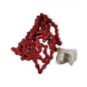 """red 1/8″ bicycle chain – 112 links"""""""