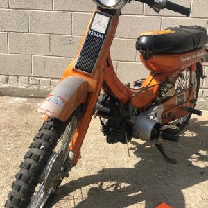 Rare Orange Yamaha U7E motorcycle project – as is (SOLD)