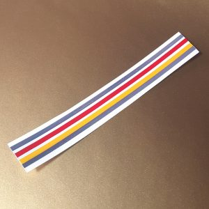 Yamaha QT50 reproduction tri-stripe decal