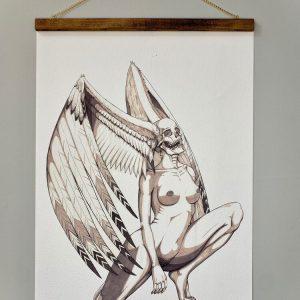 Kita Winged Death Head Print