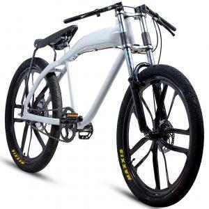 NEW stylish white motorized bicycle (with or without motor)
