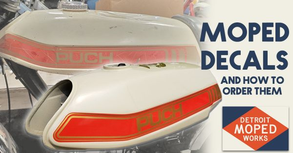 Moped decals and how to order them