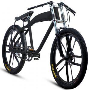 NEW stylish black motorized bicycle (with or without motor)