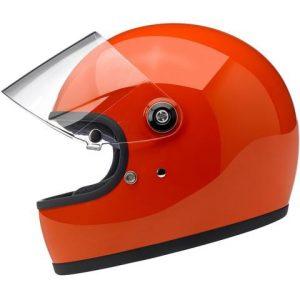 Biltwell Gringo S Gloss Hazard Orange ECE Helmet