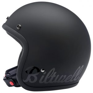 Biltwell Bonanza Flat Black Factory Helmet