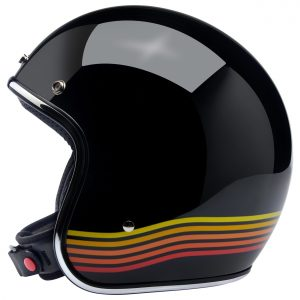 Biltwell Bonanza Gloss Black Spectrum Helmet