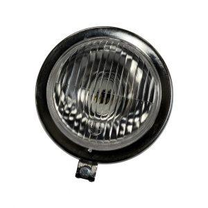 "BLACK GUIA headlight with chrome rim – 5″"""