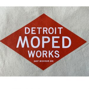 Detroit Moped Works Canvas Totes