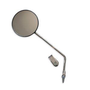 Round clamp-on mirror 10″ black